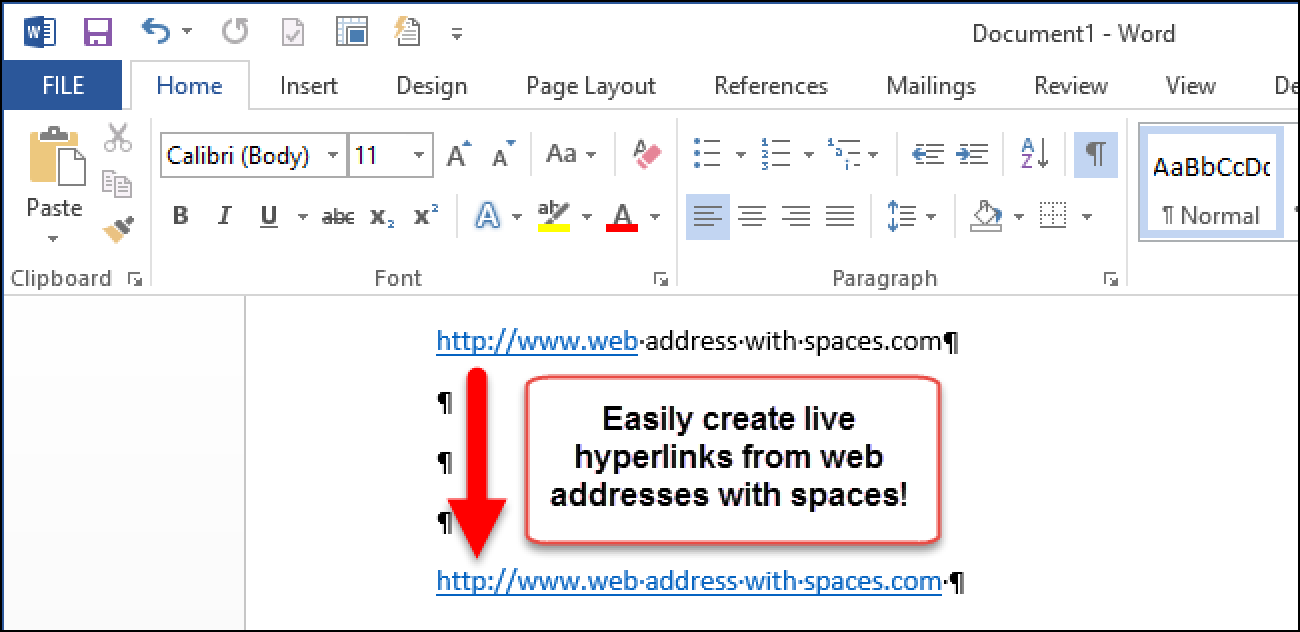 how to create a hyperlink document