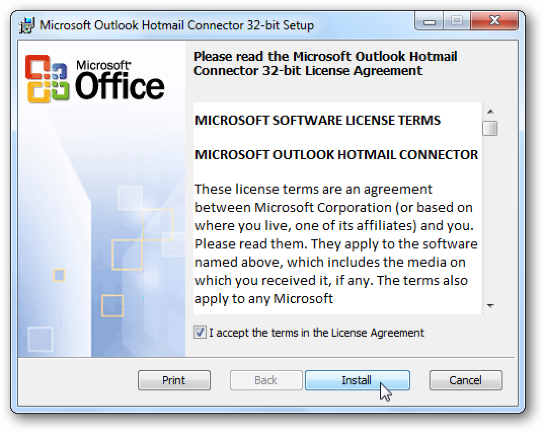 Add hotmail live email accounts to outlook 2010 for Acc email