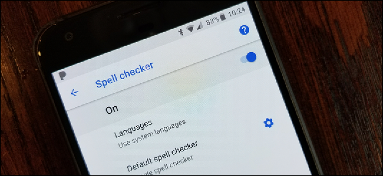 how to turn on spell check on android phone