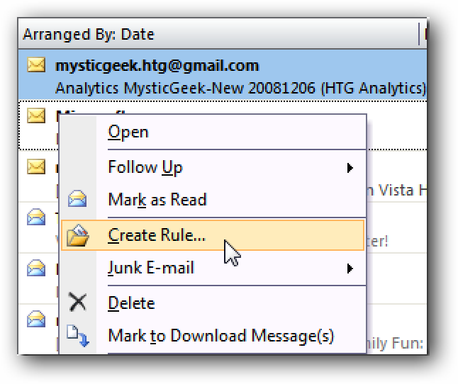 Automatically Move Daily Emails To Specific Folders In Outlook
