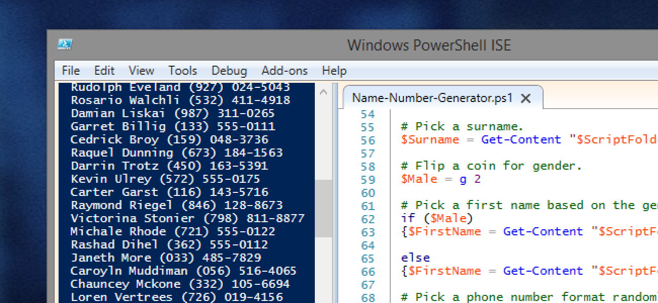 How to Generate Random Names & Phone Numbers with PowerShell