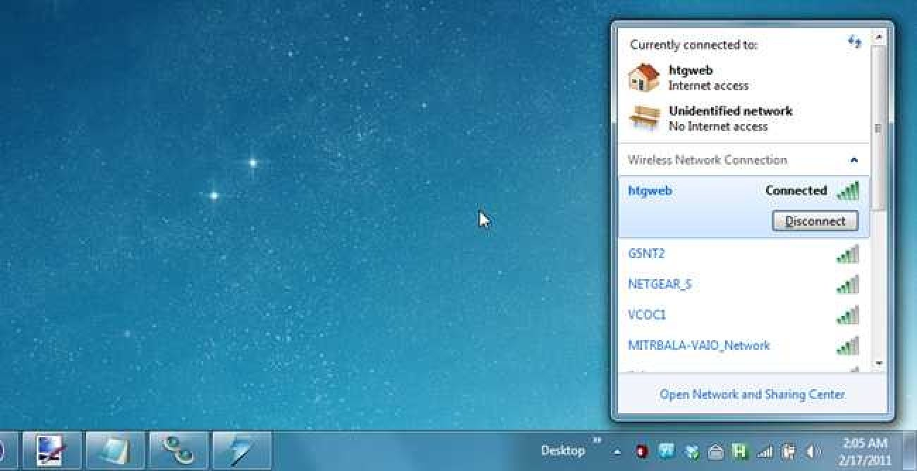 how to connect wireless network in windows 7