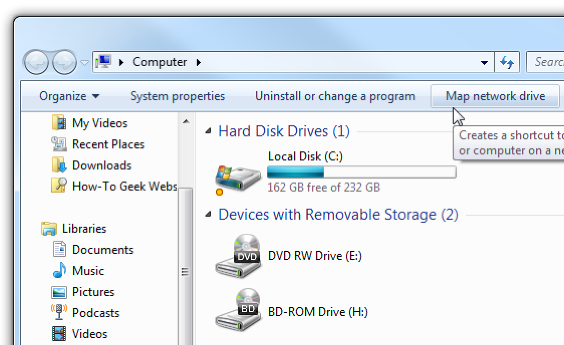 how to add network drive in windows 7