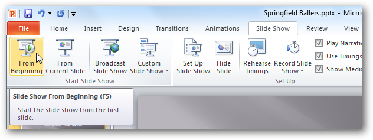 Use Your Mouse As A Laser Pointer In Powerpoint 2010
