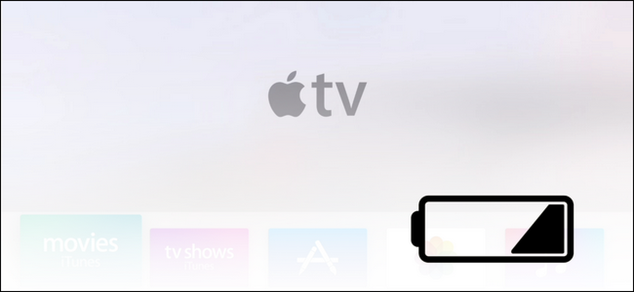 How To Check And Recharge The Apple Tv Remote