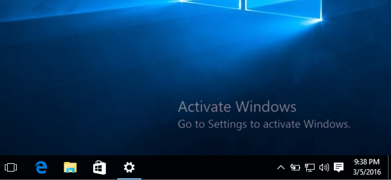 Activate windows 10 logo on computer