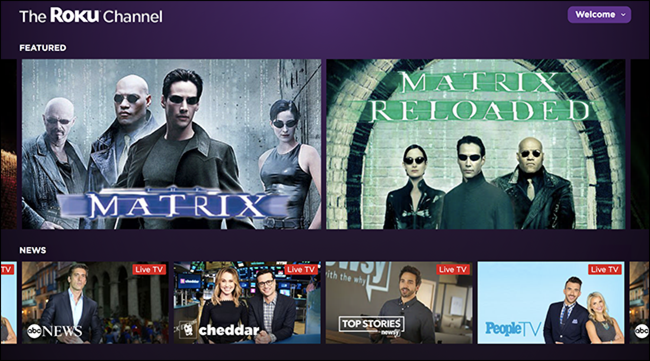 Watch Free TV and Movies in Your Browser With The Roku