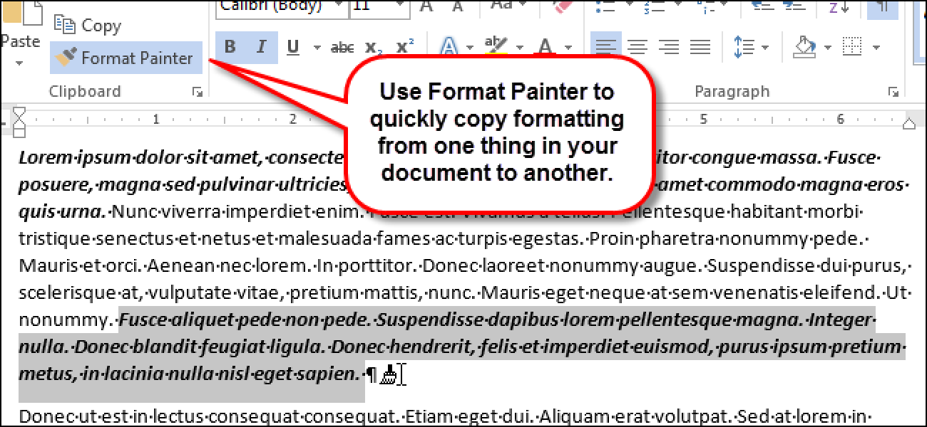 How to Quickly and Easily Copy Formatting in Word