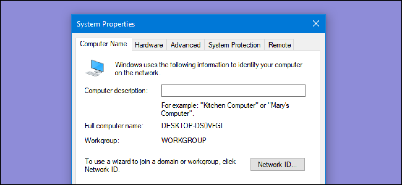 change your computer name in windows 7 8 or 10