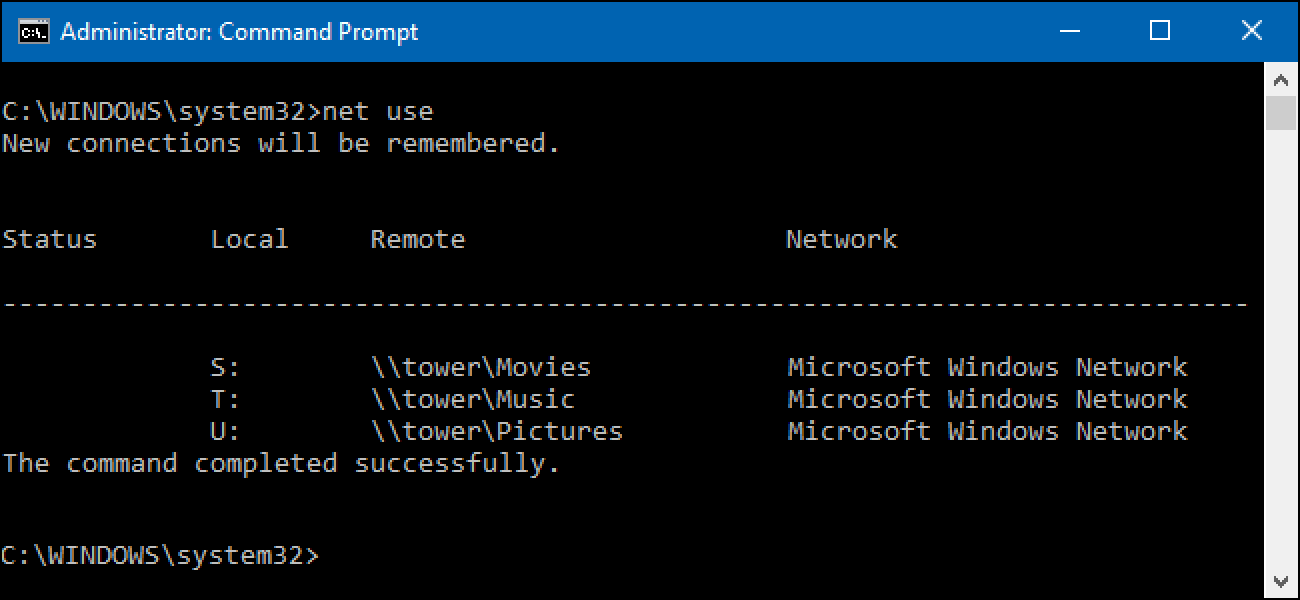 How to Map Network Drives From the Command Prompt in Windows