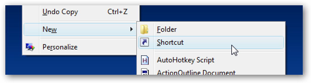 Create Shortcut Icon to Disable / Enable the Screensaver