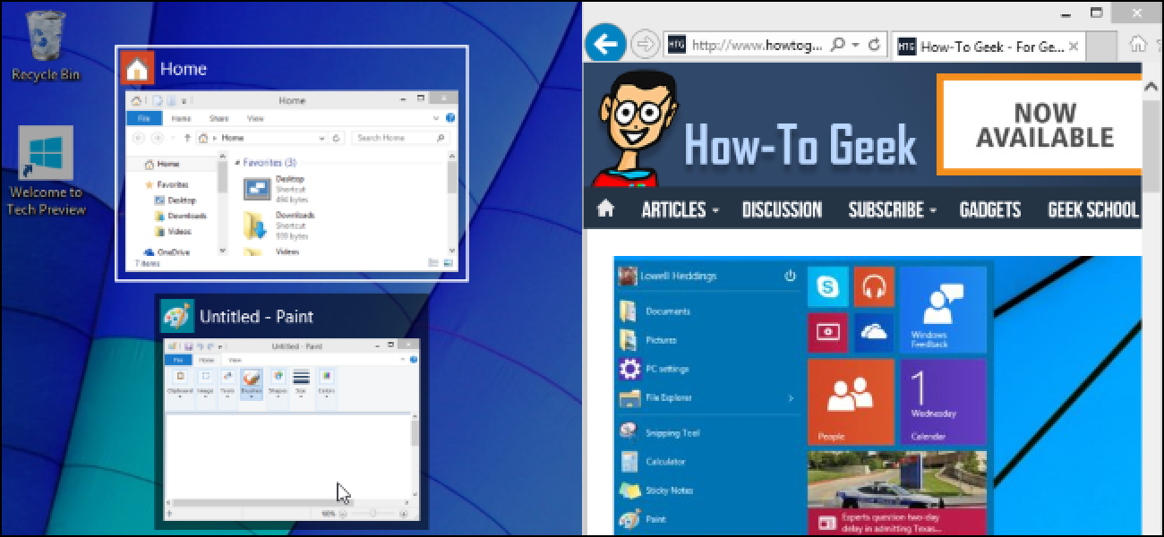 How to Use Snap Assist and 2×2 Snap on Windows 10