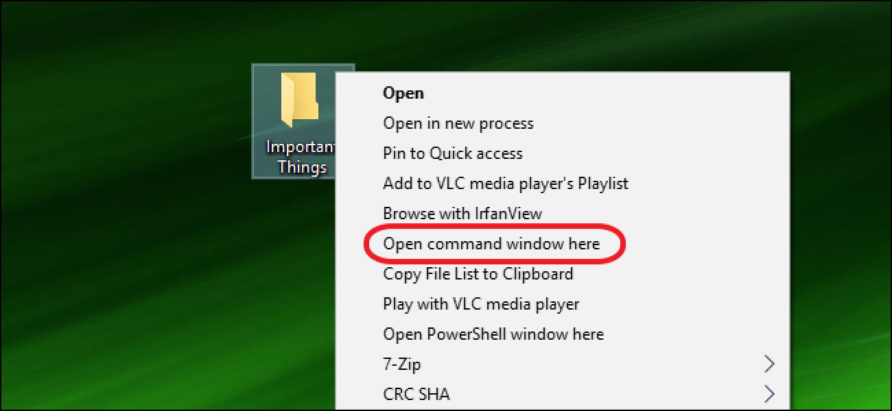 "How to Put ""Open Command Window Here"" Back on the Windows Right"