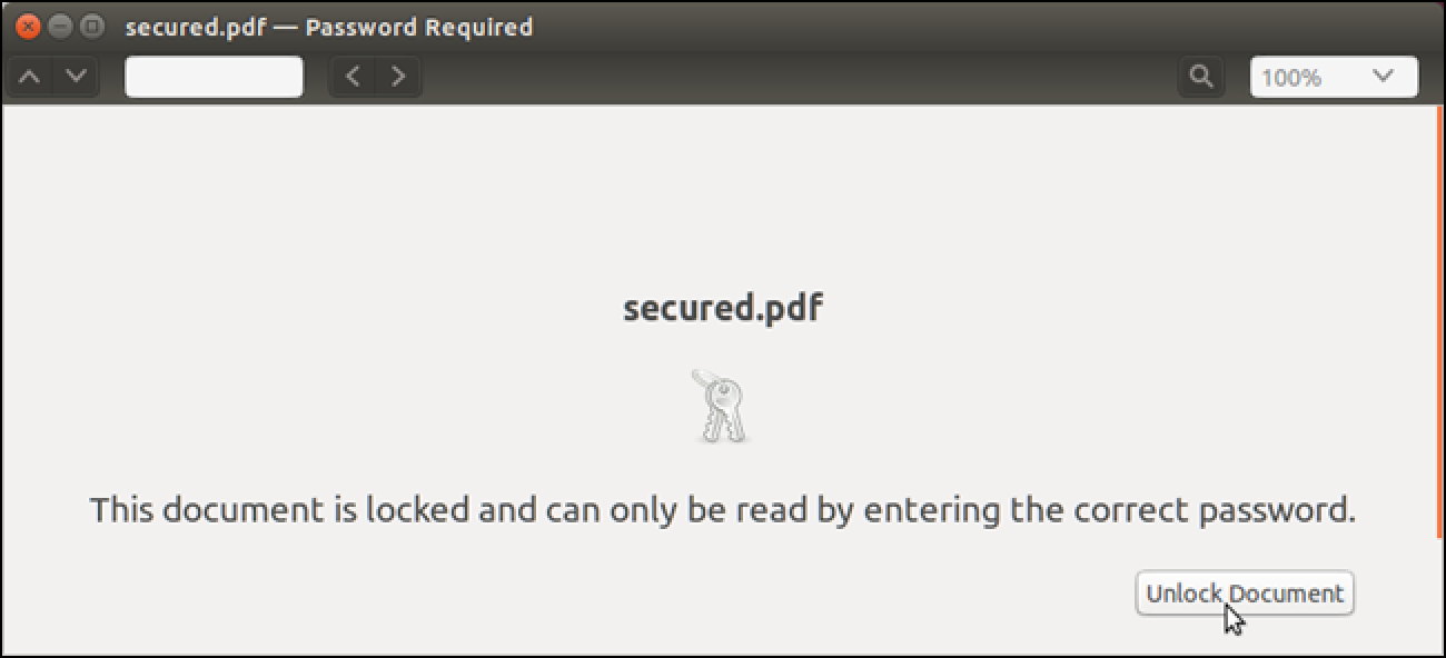 removing protection from pdf document