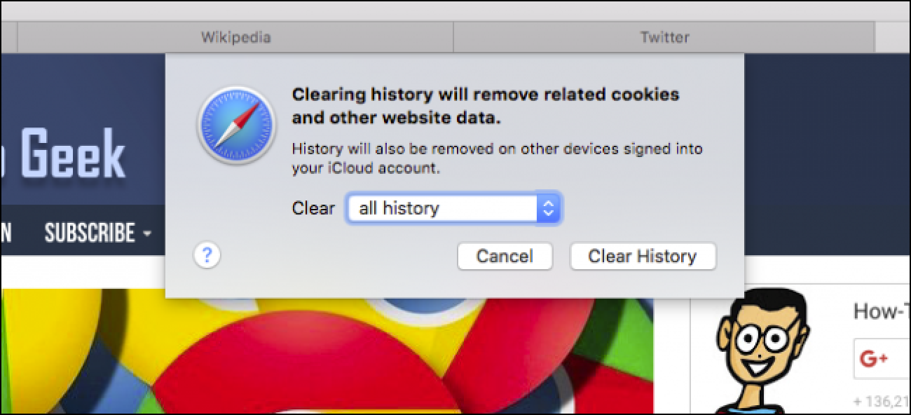 how to delete cookies and browsing history