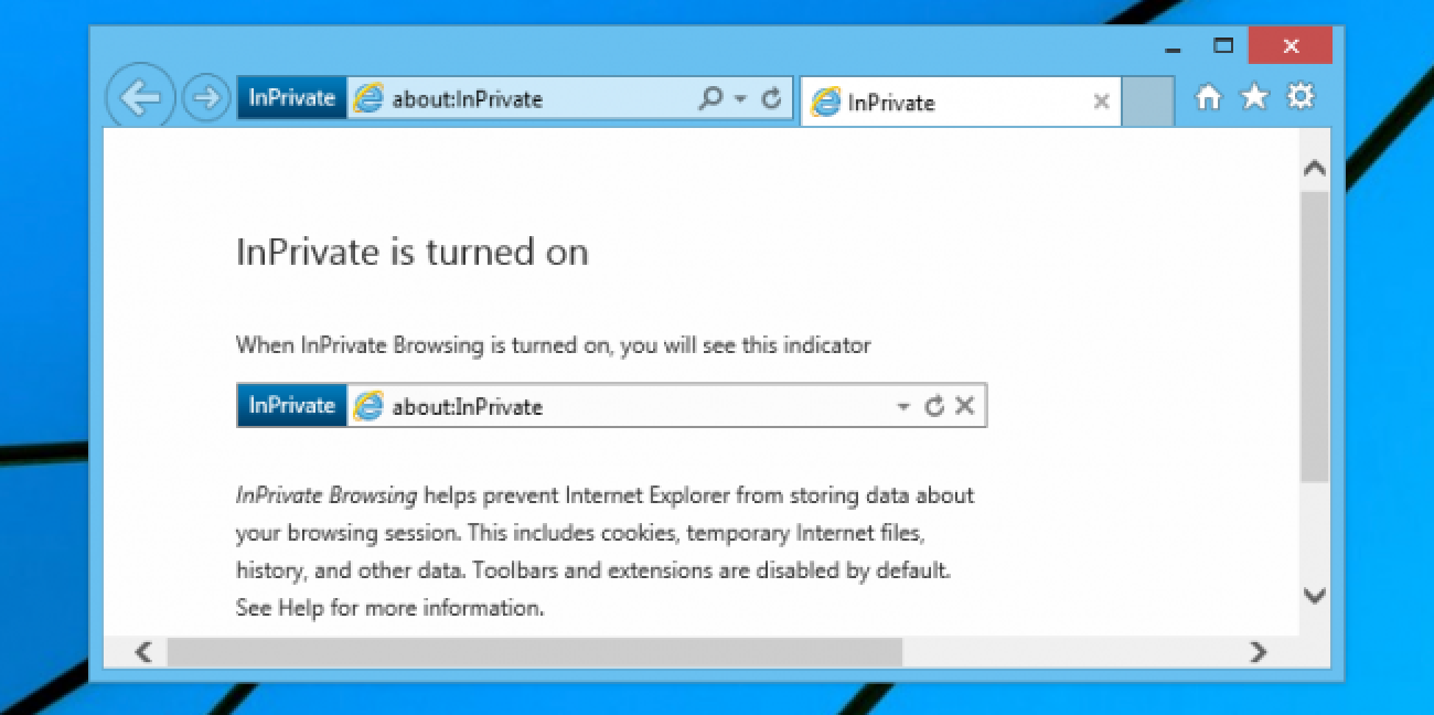 Open IE's Private Browsing Mode the Easy Way