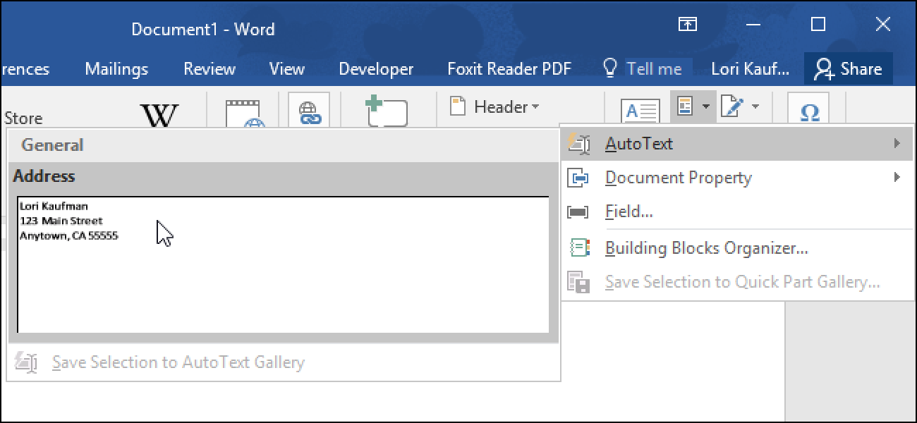 How To Quickly Insert Blocks Of Text In Microsoft Word