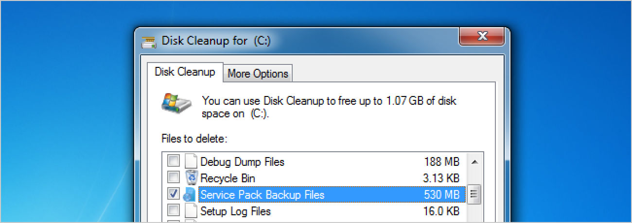 Should You Delete Windows 7 Service Pack Backup Files to