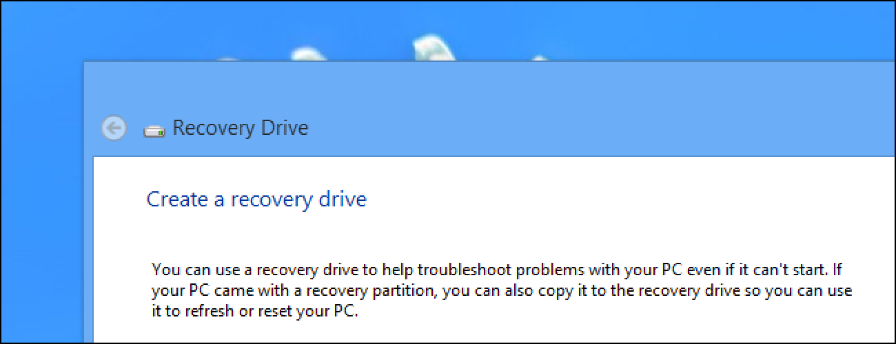 How to Create and Use a Recovery Drive or System Repair Disc