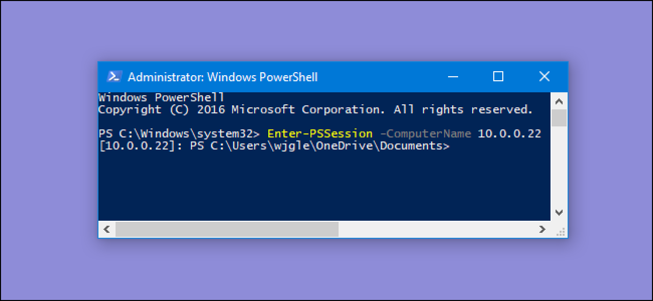 run powershell commands  remote computers