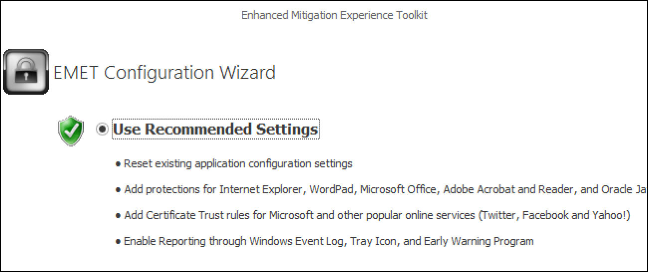 Quickly Secure Your Computer With Microsoft's Enhanced Mitigation