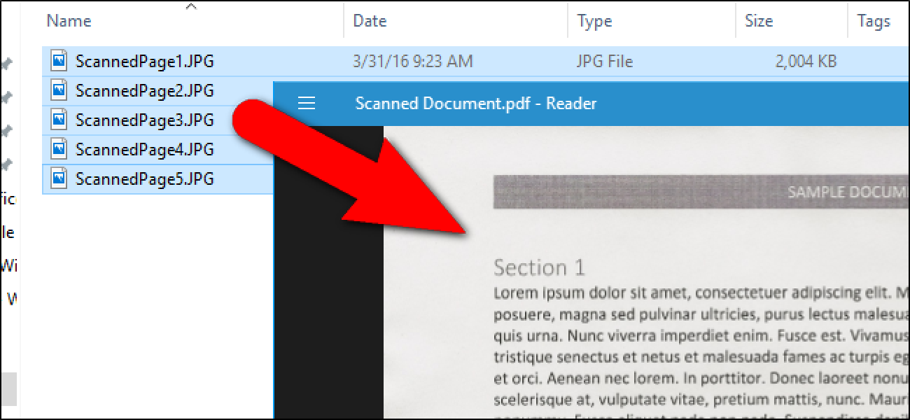 Create merged PDFs
