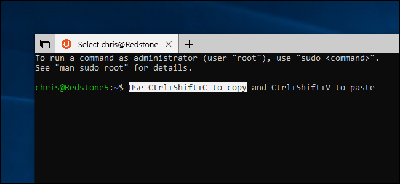 How to Enable Copy and Paste Keyboard Shortcuts in Windows 10's Bash