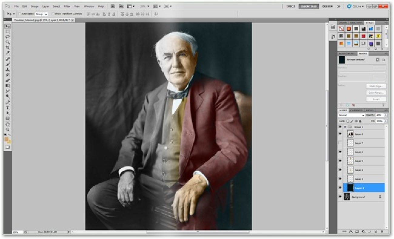 How To Colorize Black And White Vintage Photographs In Photoshop