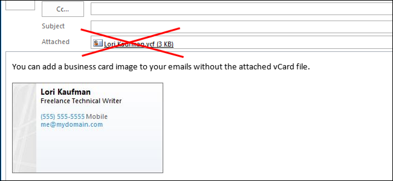 How to Add a Business Card Image to a Signature in Outlook 2013 ...