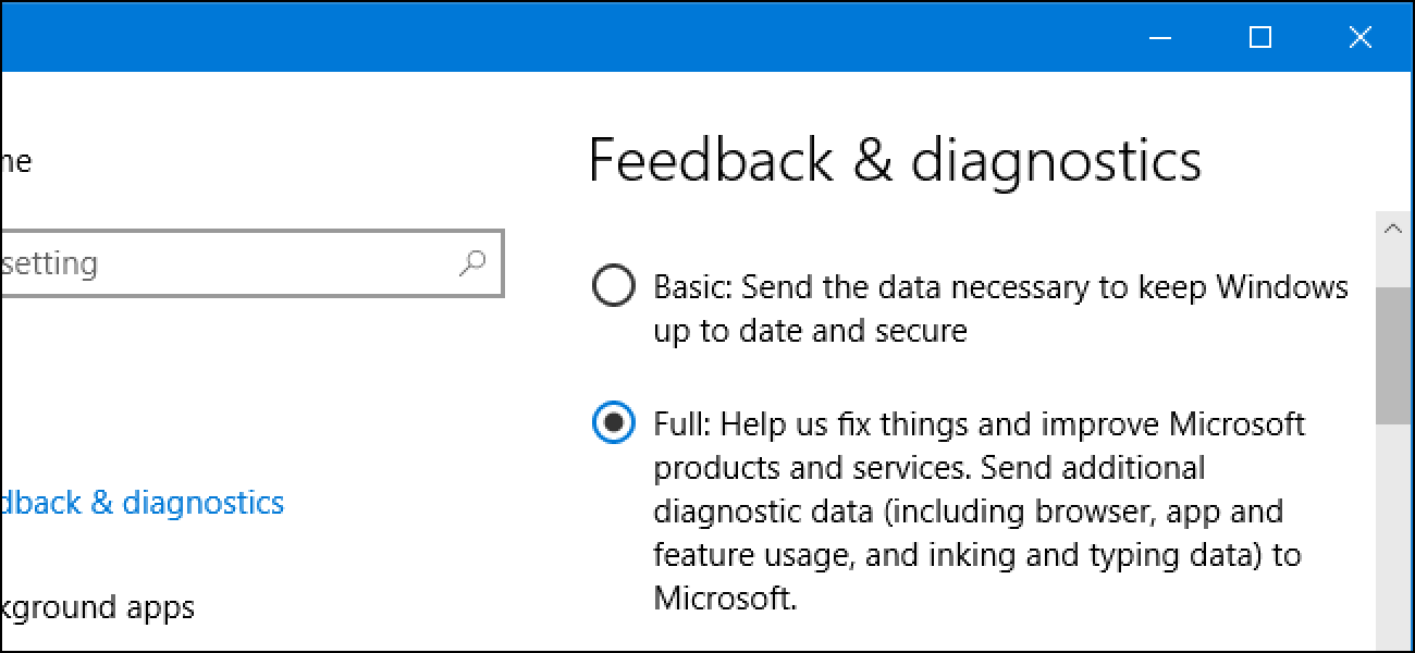 What Do Windows 10's Basic and Full Telemetry Settings