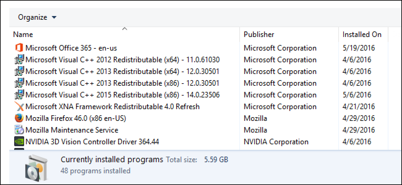 "Why Are There So Many ""Microsoft Visual C++ Redistributables"