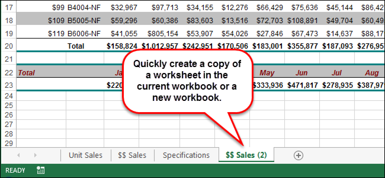 How to Copy or Move a Worksheet into Another Workbook in Excel
