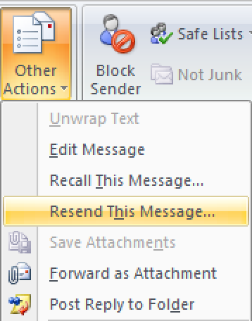 how to send email in outlook 2007
