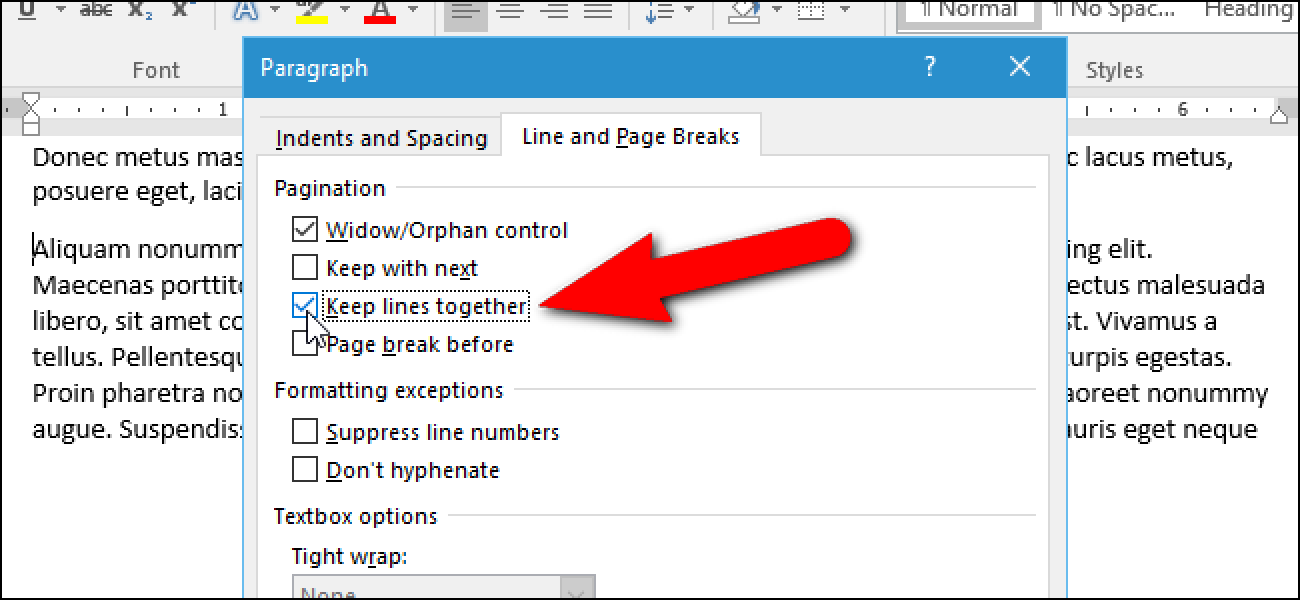 How To Stop A Paragraph From Splitting Between Pages In Microsoft Word