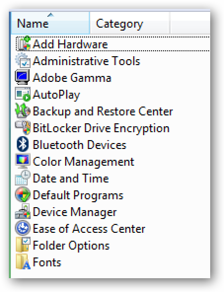 Restore Missing/Hidden Items in Windows 7 or Vista Control Panel