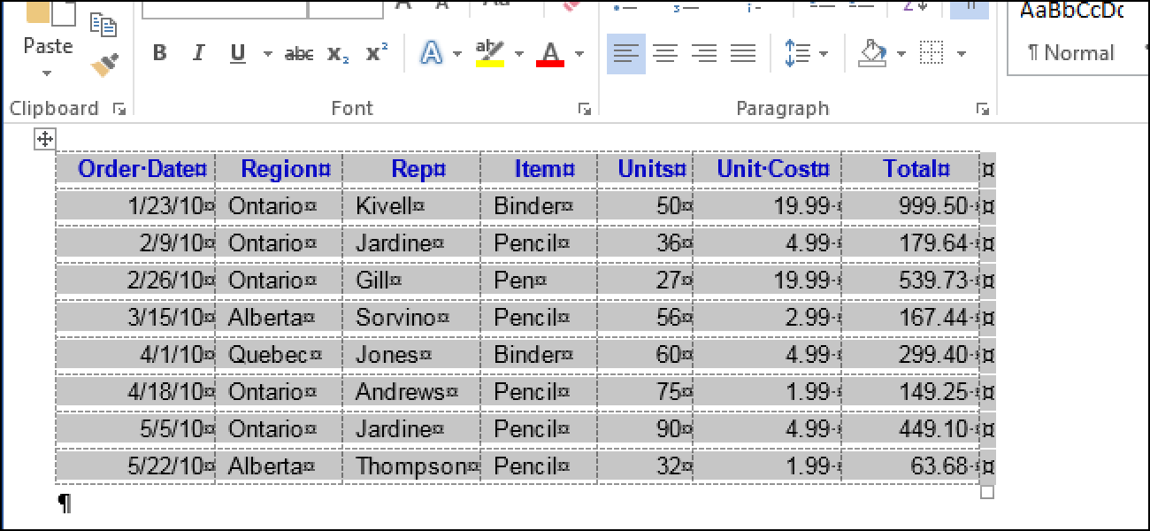 How To Draw A Line Inside A Table In Word