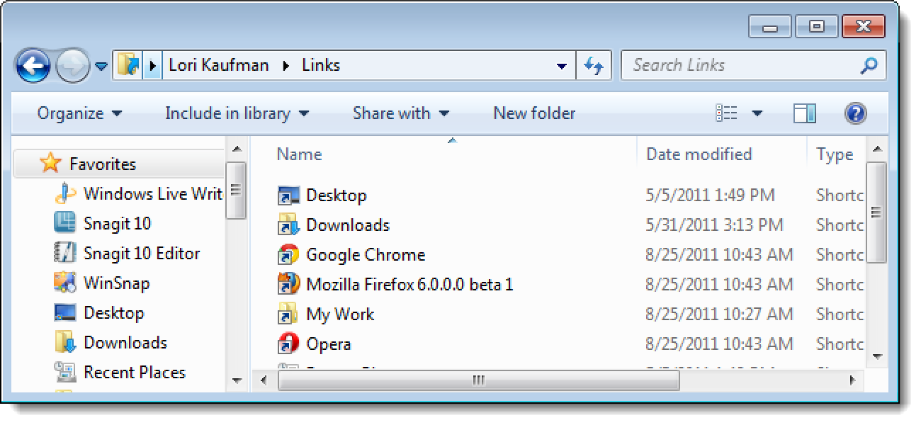 How to Add Apps to the Windows 7 Explorer Favorites List