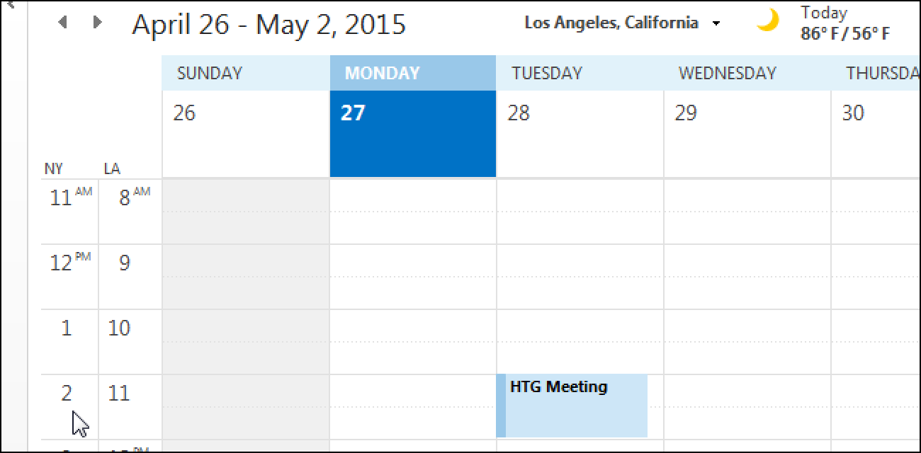 Calendar Time Zone Planner : How to add a second time zone your calendar in outlook