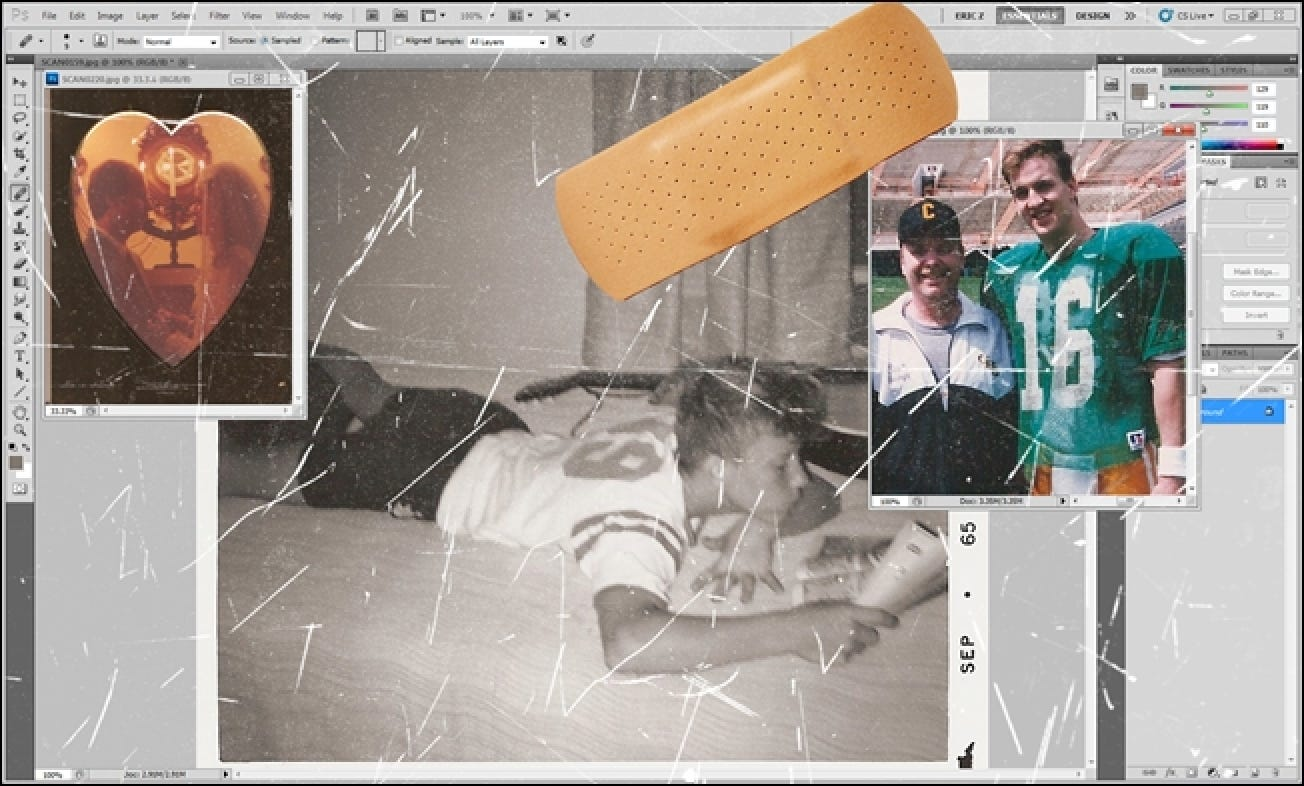 How To Repair Scratched And Damaged Photographs Or Scans