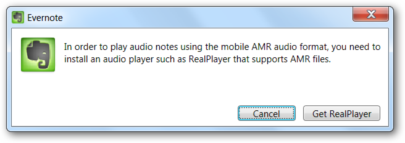 How To Play Recorded Mobile Audio ( AMR) in Evernote Without