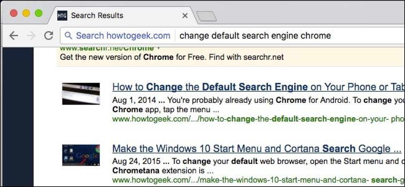 yahoo became search engine on chrome how to change it