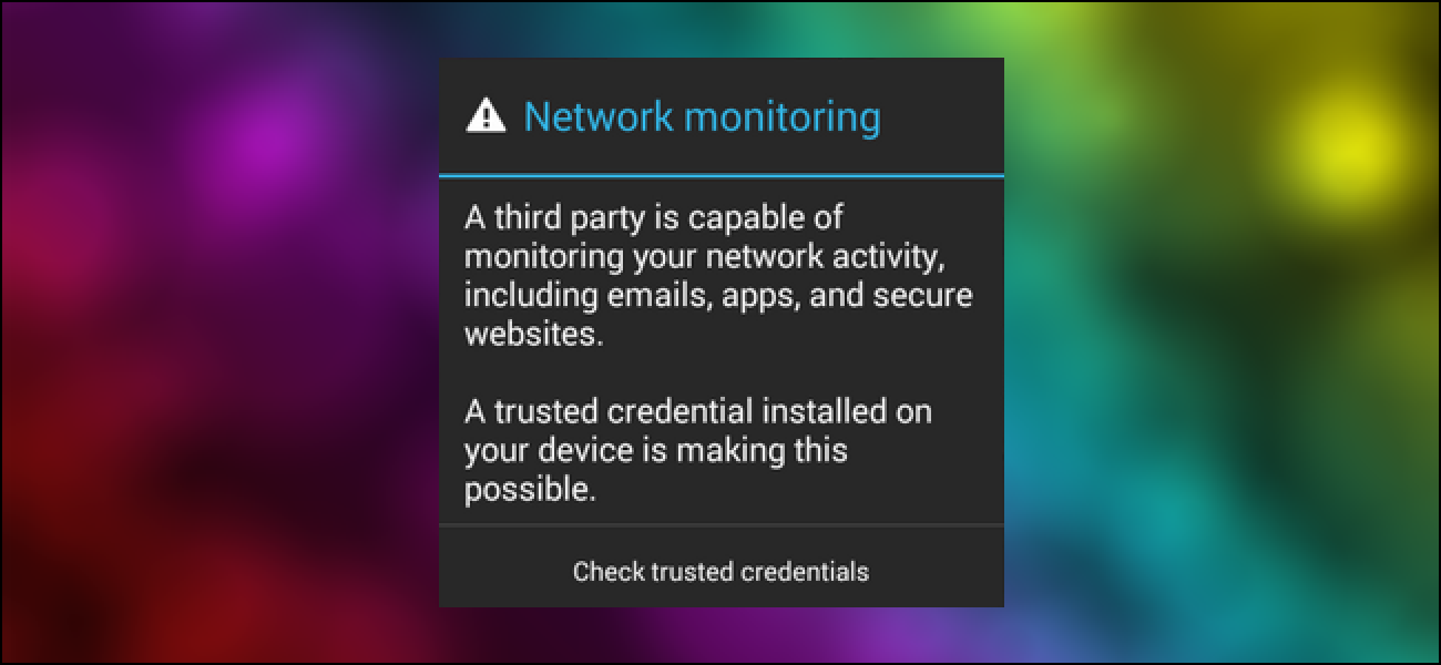 how to know if network is monitored