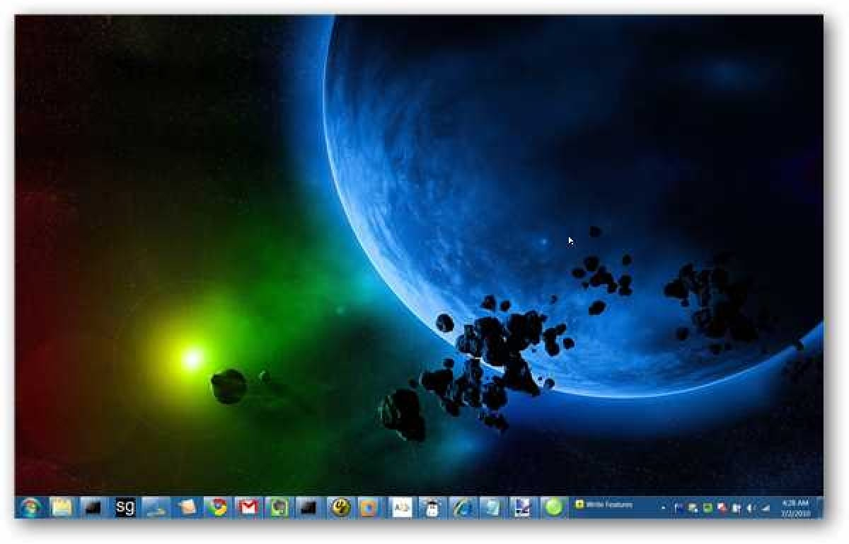 How to change the windows 7 taskbar color with no extra - Windows 7 wallpaper changer software ...