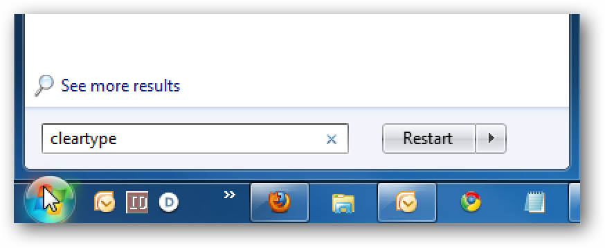 Using ClearType Tuner in Windows 7