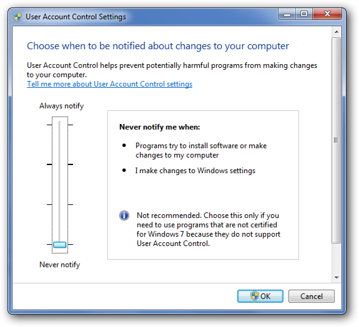 How To (Really) Completely Disable UAC on Windows 7