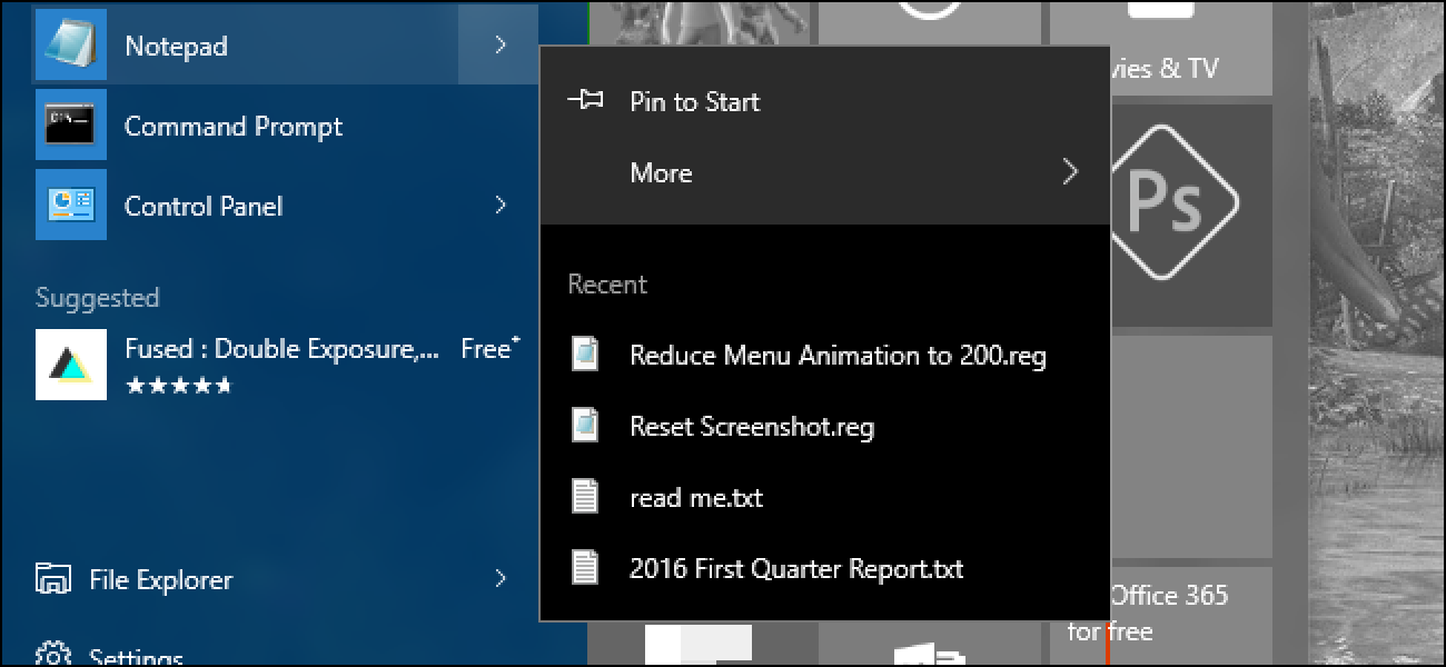 How to Speed Up Menu Animations in Windows