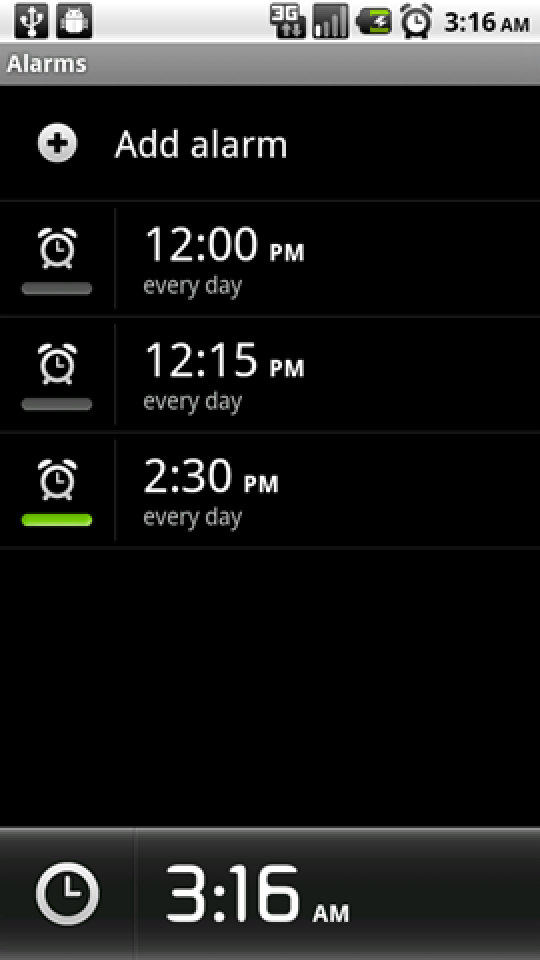 How to Create an Alarm Clock Shortcut on Android 2 2 (Froyo)