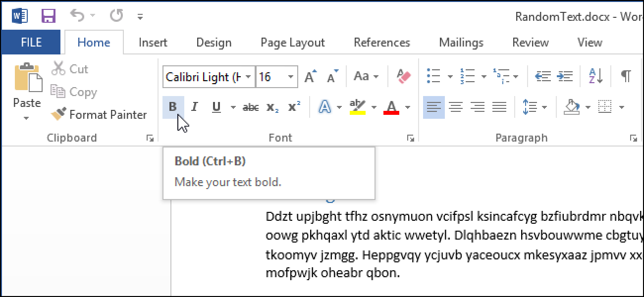 How to Add a Keyboard Shortcut to a Command in Word 2013
