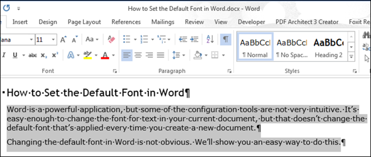 How To Set The Default Font In Word