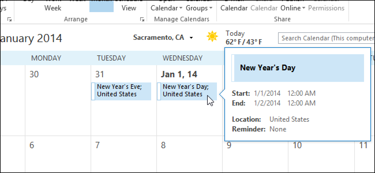 Birthday Calendar In Outlook : How to add holidays your calendar in outlook